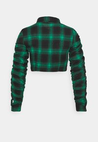 Missguided - RUCHED DETAIL CHECK SHIRT - Blouse - green - 1