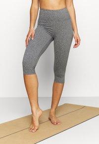 Cotton On Body - SO PEACHY CAPRI - Leggings - black marle - 0