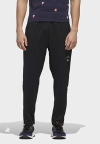 adidas Performance - MUST HAVES AEROREADY TRACKSUIT BOTTOMS - Tracksuit bottoms - black - 0