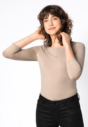 Long sleeved top - beige