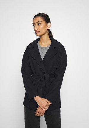 SHORT WRAP LIGHTWEIGHT COAT - Korte frakker - navy