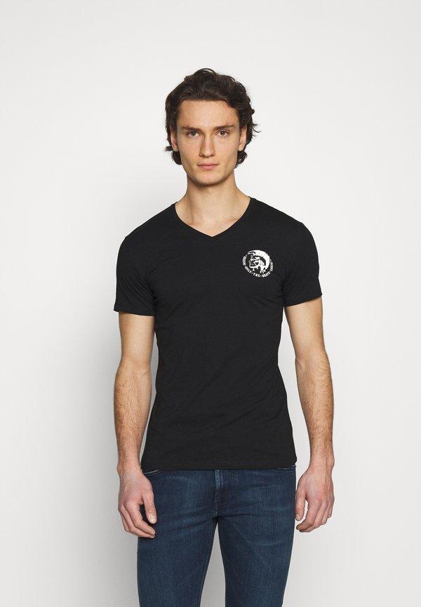 Diesel UMTEE MICHAEL 3 PACK - T-shirt z nadrukiem - white/blue/black/biały Odzież Męska LBZB