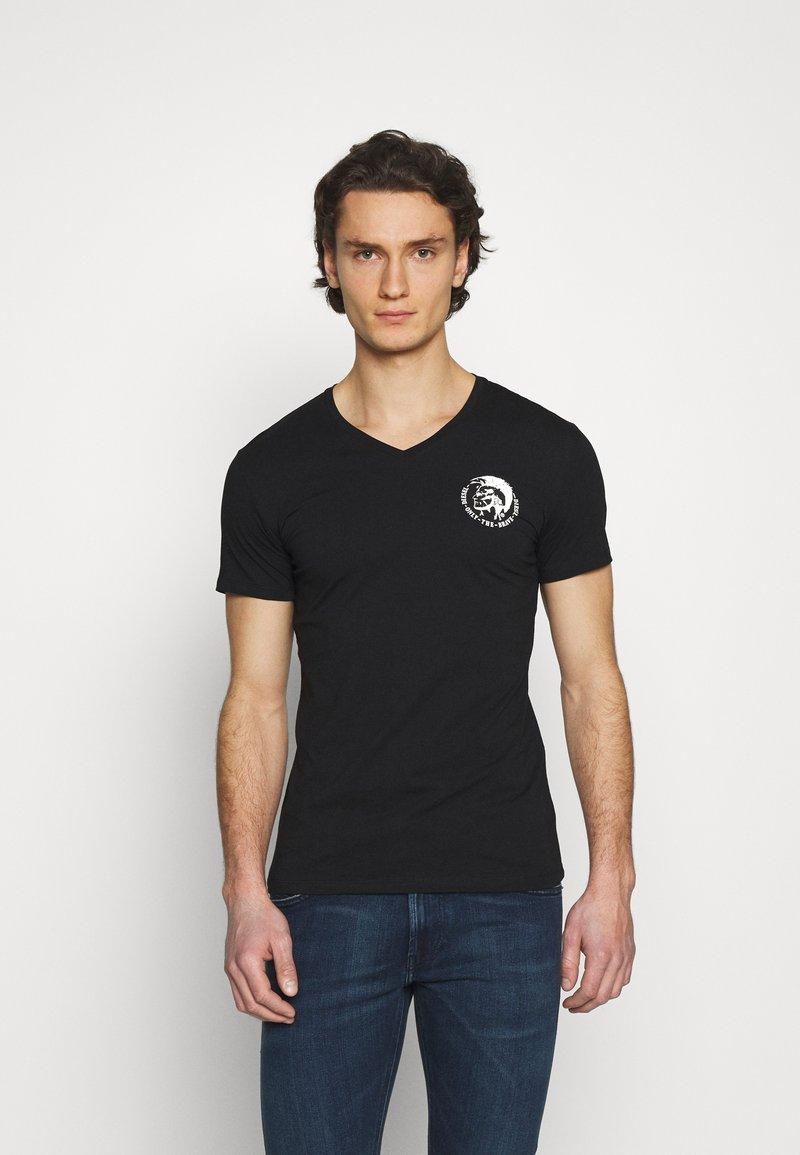 Diesel - UMTEE MICHAELV NECK 3 PACK - Print T-shirt - white/blue/black