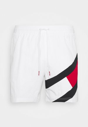 SOLID FLAG DRAWSTRING - Short de bain - white