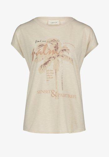 MIT AUFDRUCK - Print T-shirt - birch