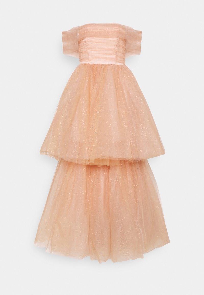 Maya Deluxe - BANDEAU TIERED MAXI DRESS - Occasion wear - champagne