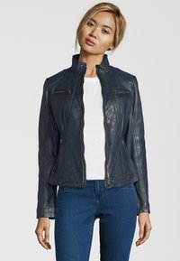7eleven - RENATE - Leather jacket - navy - 0