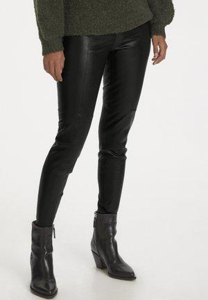 TESSAPW STRETCH  - Pantalon en cuir - black