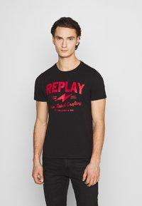 Replay - TEE - Print T-shirt - black - 0
