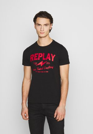 TEE - T-shirt con stampa - black