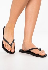 Havaianas - SLIM FIT CRYSTAL GLAMOUR - Boty do bazénu - black - 1
