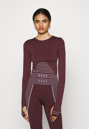 SEAMLESS LONG SLEEVE - Bluzka z długim rękawem - burgundy