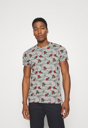 CHAIN - Print T-shirt - grey marl