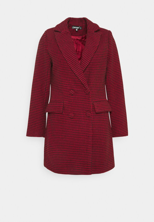 DOGTOOTH BLAZER DRESS - Day dress - red