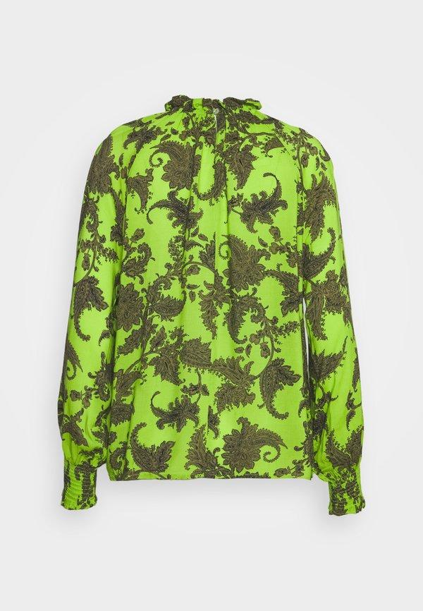 Emily van den Bergh Bluzka z długim rękawem - khaki/green Paisley Odzież Damska ADFH KL 8