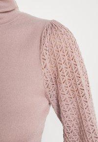 Fashion Union Tall - HARDY POINTELLE SLEEVE JUMPER - Stickad tröja - taupe/pink - 5