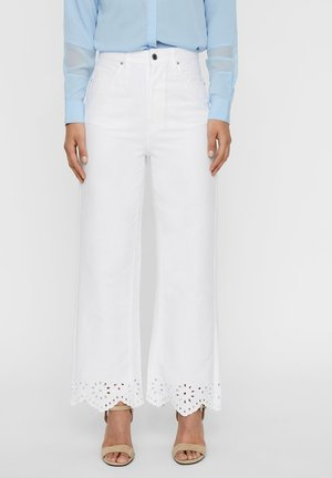 Relaxed fit jeans - off-white denim