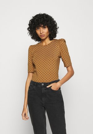 ONLMAYA LIVE LOVE PUFF - Blouse - toasted coconut