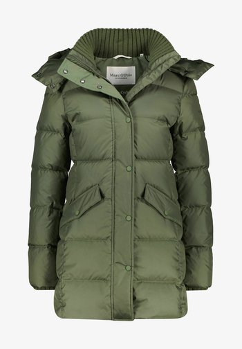 MIDDLE LENGTH - Down coat - khaki