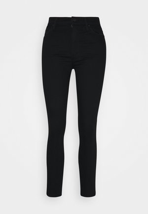 STUNNER ZIP ANKLE STEP FRAY - Skinny džíny - black denim