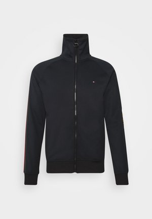 MONOGRAM ZIP THROUGH - Kardigan - blue