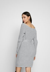 Missguided Tall - BELTED MINI DRESS - Robe pull - grey - 2