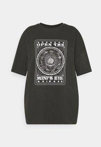 Even&Odd Curvy - Print T-shirt - dark grey - 0