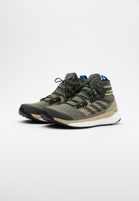 adidas Performance - FREE HIKER BOOST PRIMEKNIT SHOES - Hiking shoes - legend green/core black/sigal green - 1