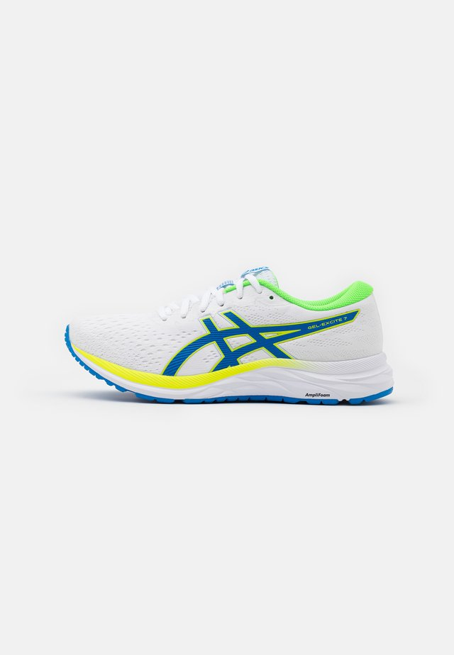 GEL-EXCITE 7 - Chaussures de running neutres - white/safety yellow