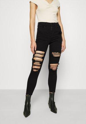 CURVY HIRISE JEGGING - Jeans straight leg - black