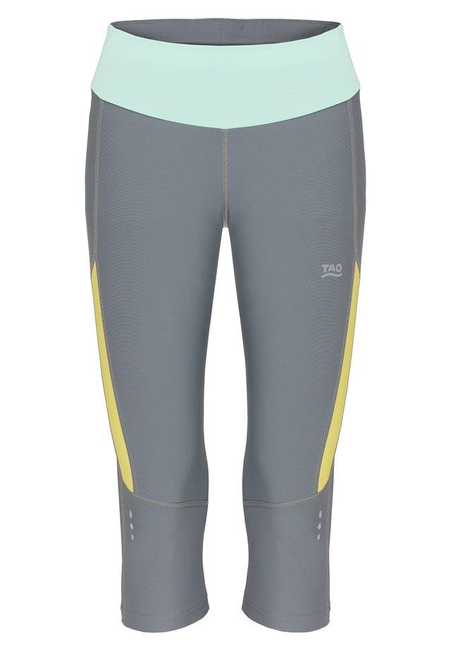 EBRU - 3/4 sports trousers - steel/citron