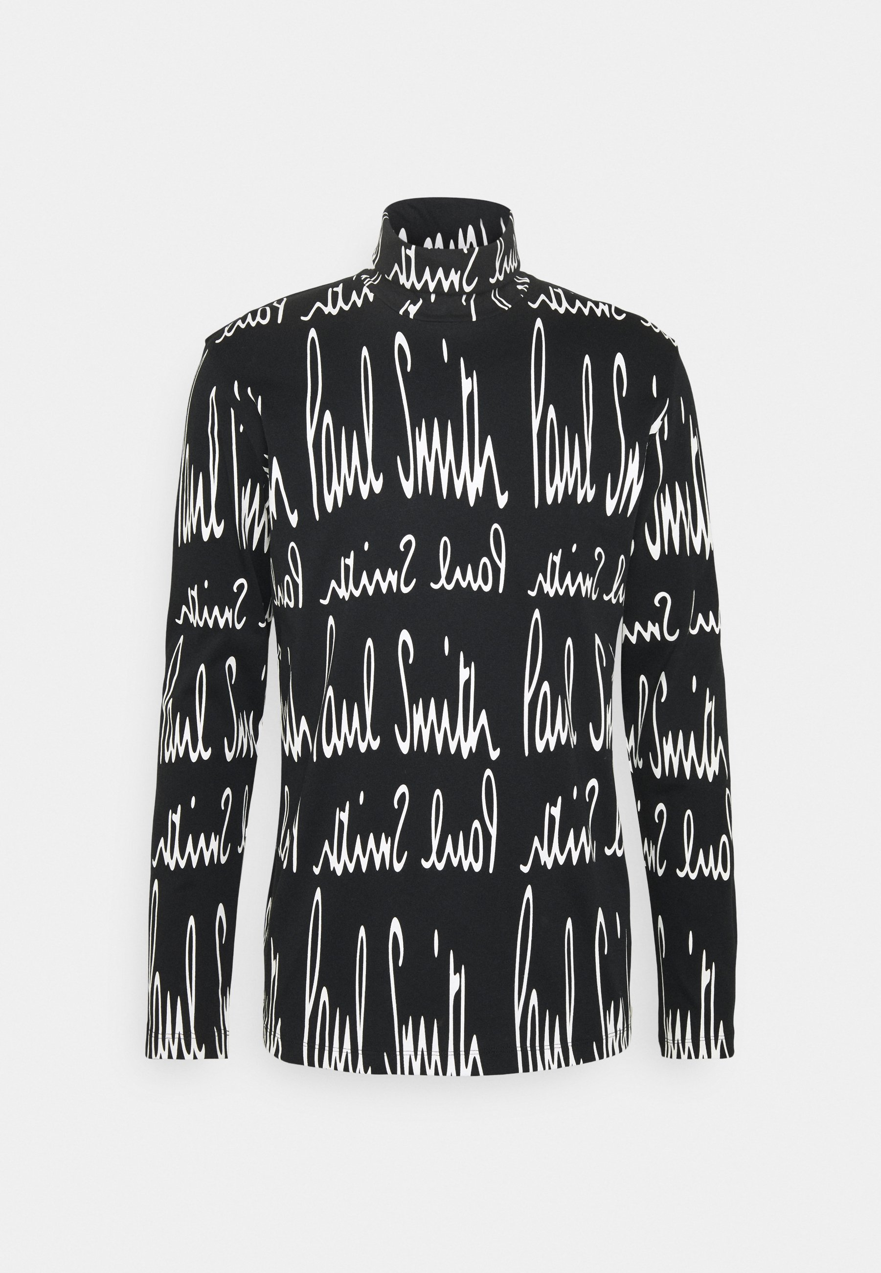 Paul Smith Gents Roll Neck Archive Logo Print - Langarmshirt White/black