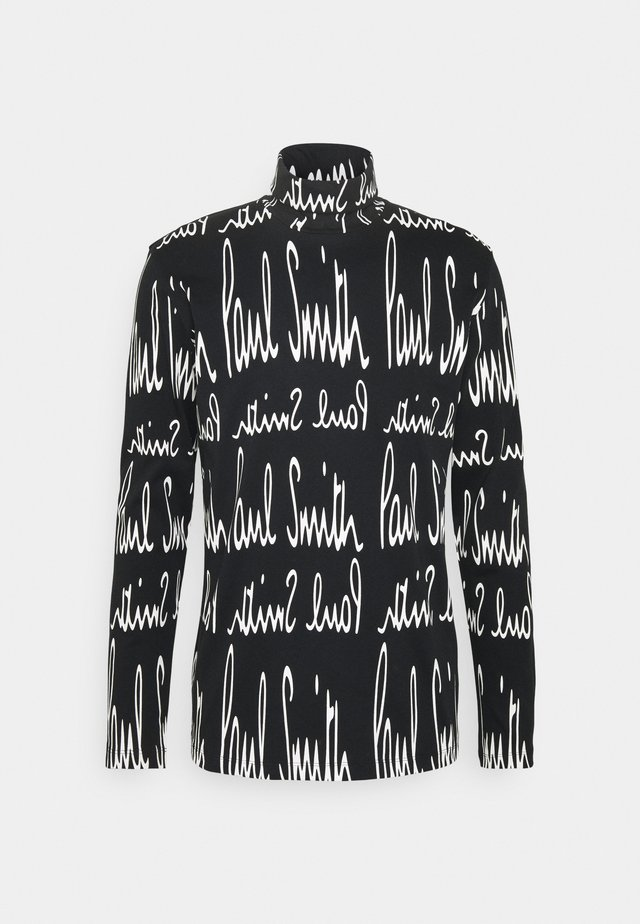 GENTS ROLL NECK ARCHIVE LOGO PRINT - Long sleeved top - black/white