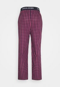 Jack & Jones - JACRED CHECK PANT - Pyjama bottoms - red bud - 1