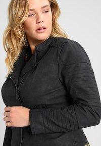 ONLY Carmakoma - CARAVANA - Faux leather jacket - black - 3
