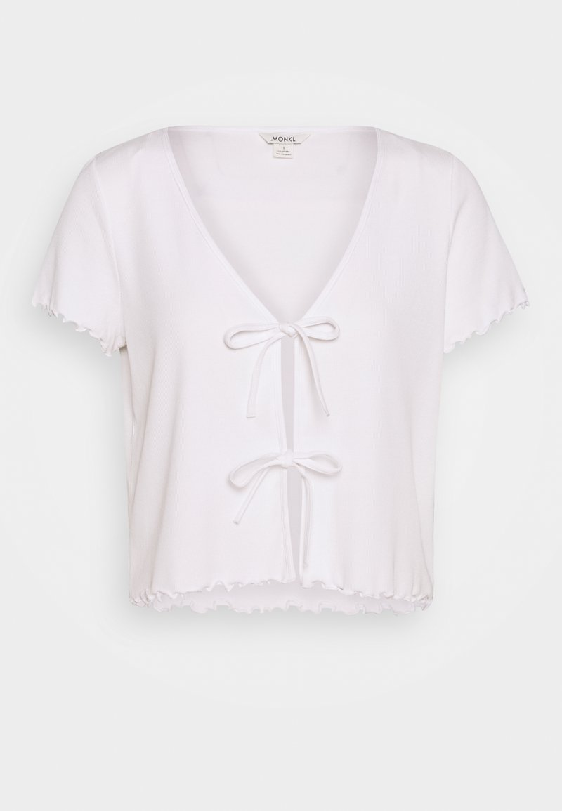 Monki - NILLAN - T-shirt imprimé - white