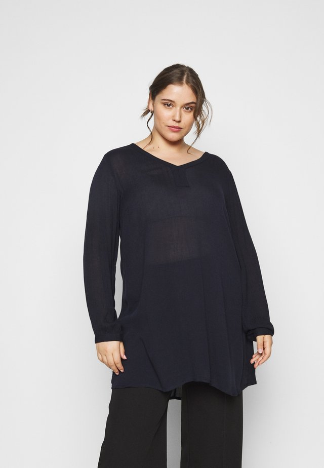 CAMI V NECK TUNIC - Tunika - midnight marine