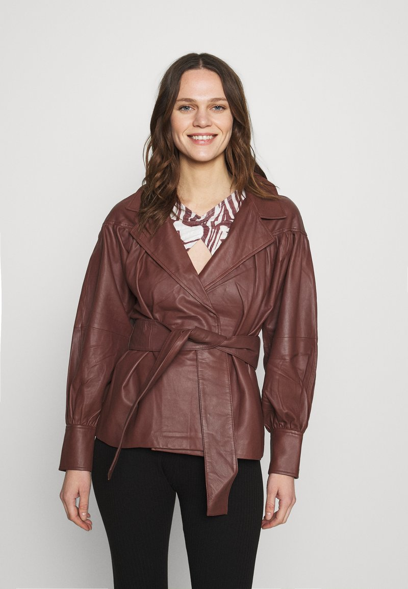 DAY Birger et Mikkelsen - DAY GROW - Leather jacket - cocco