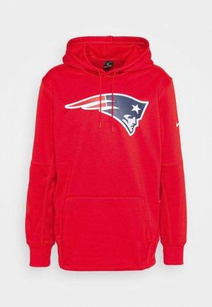 NFL NEW ENGLAND PATRIOTS PRIME LOGO HOODIE - Club wear - university red