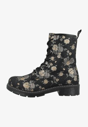 Lace-up ankle boots - black-multi