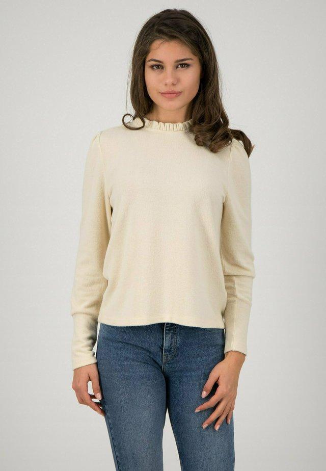 Long sleeved top - beige melange
