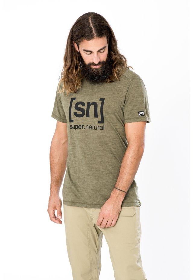 Print T-shirt - olivgrün