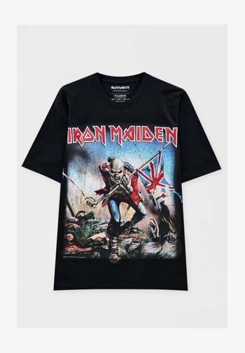 IRON MAIDEN THE TROOPER - Print T-shirt - mottled black