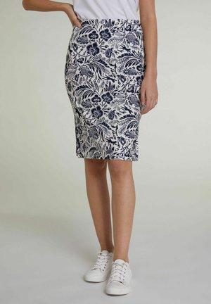 Pencil skirt - white blue