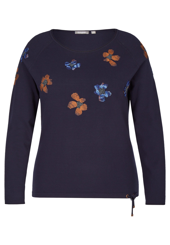 Damen GESTICKTEN BLUMEN UND GLITZERNIETEN - Sweatshirt