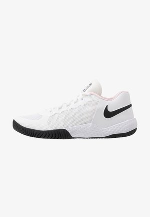COURT FLARE  - Clay court tennis shoes - white/black/pink foam