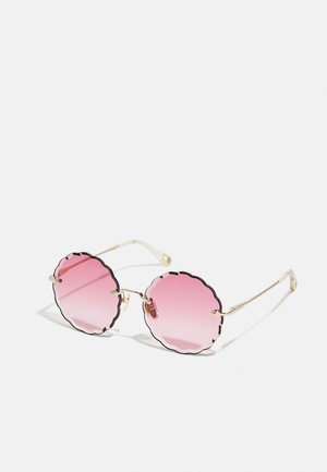 Sunglasses - gold-coloured/pink