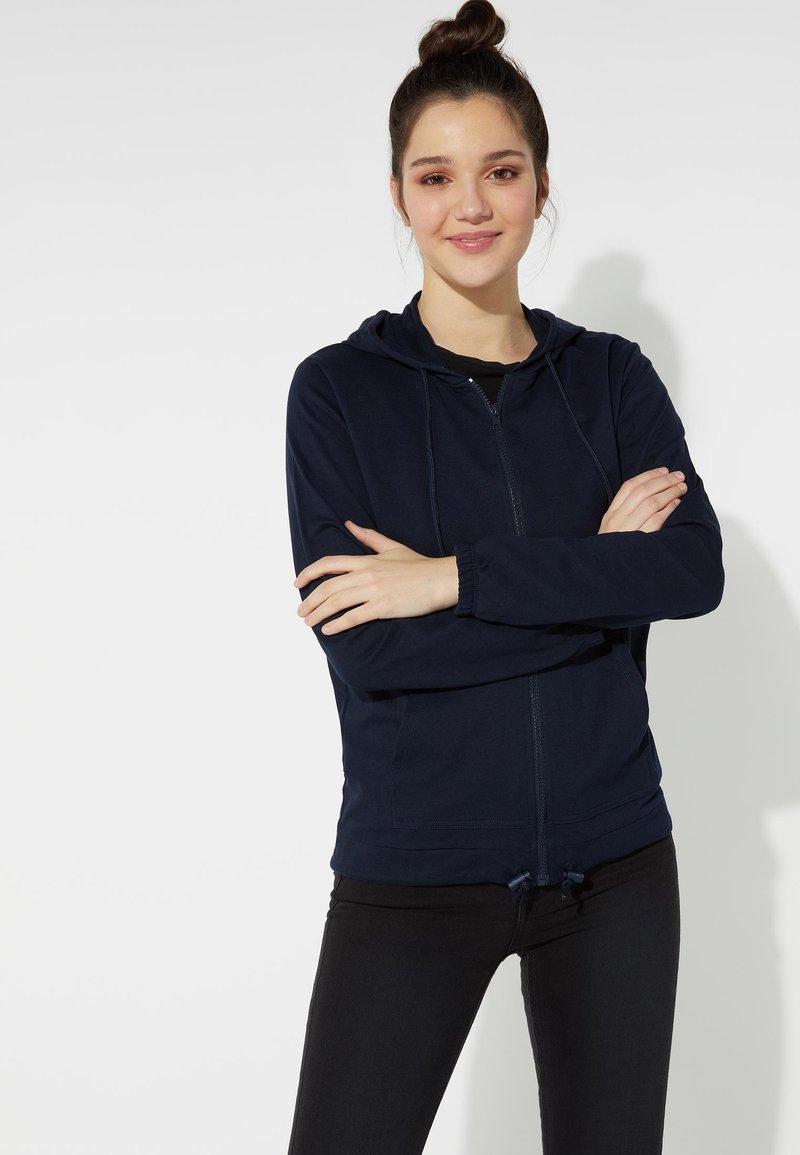 Tezenis - MIT REISSVERSCHLUSS UND TUNNELZUG - Zip-up hoodie - blu assoluto