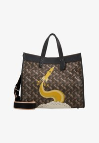 Coach - HORSE AND CARRIAGE COATED ROCKET FIELD TOTE - Shopping bags - brown black - 6