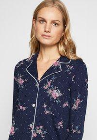 Lauren Ralph Lauren - CLASSIC NOTCH COLLAR SLEEPSHIRT - Noční košile - navy - 3